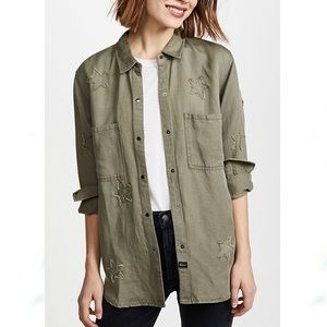 Rails Marcel Shirt with Stars in Sage Green S